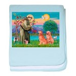 St Francis - 2 Goldens baby blanket