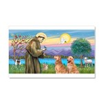 St Francis - 2 Goldens Car Magnet 20 x 12