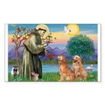 St Francis - 2 Goldens Sticker (Rectangle 10 pk)