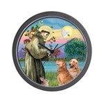 St Francis - 2 Goldens Wall Clock