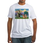 St Francis - 2 Goldens Fitted T-Shirt