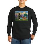 St Francis - 2 Goldens Long Sleeve Dark T-Shirt