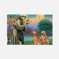 St Francis - 2 Goldens Rectangle Magnet (10 pack)