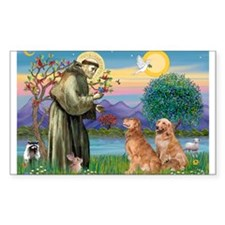 St Francis - 2 Goldens Decal