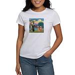 St Francis - 2 Goldens Women's T-Shirt