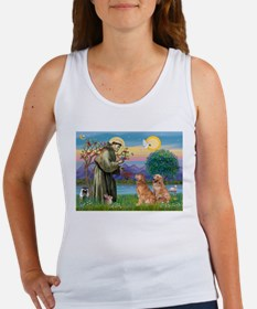 St Francis - 2 Goldens Women's Tank Top