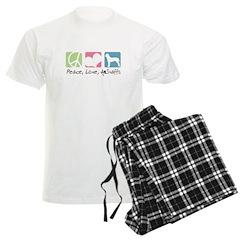 Peace, Love, AmStaffs Pajamas