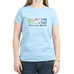 Peace, Love, AmStaffs Women's Light T-Shirt