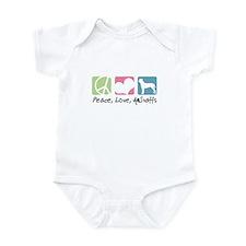 Peace, Love, AmStaffs Infant Bodysuit