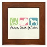 Peace, Love, AmStaffs Framed Tile