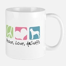Peace, Love, AmStaffs Mug