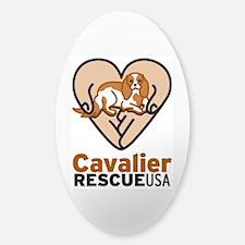 Cavalier Rescue USA Logo Sticker (Oval)