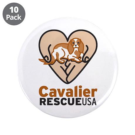 "Cavalier Rescue USA Logo 3.5"" Button (10 pack"