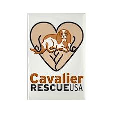 Cavalier Rescue USA Logo Rectangle Magnet