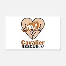 Cavalier Rescue USA Logo Car Magnet 20 x 12