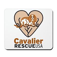 Cavalier Rescue USA Logo Mousepad