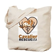 Cavalier Rescue USA Logo Tote Bag