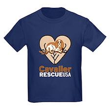 Cavalier Rescue USA Logo T