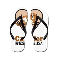 Cavalier Rescue USA Logo Flip Flops