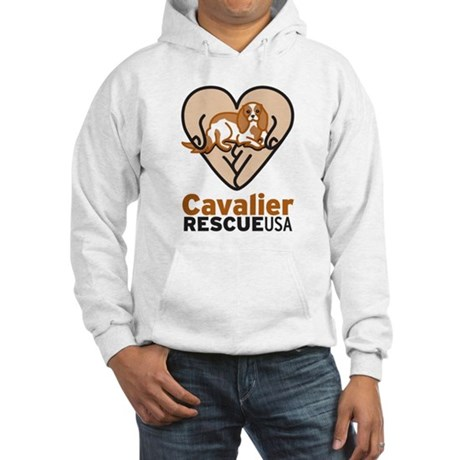 Cavalier Rescue USA Logo Hooded Sweatshirt