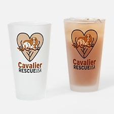 Cavalier Rescue USA Logo Drinking Glass