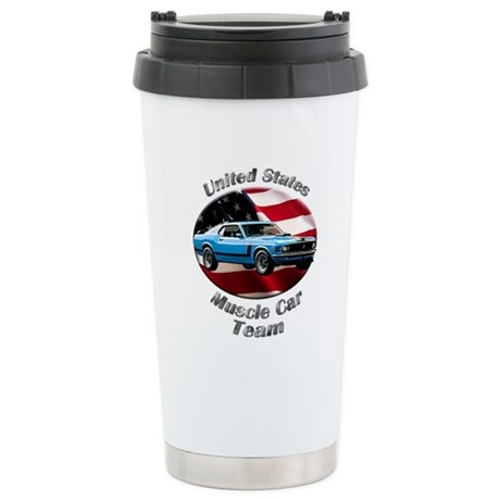 Ford Mustang Boss 302 Stainless Steel Travel Mug