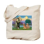 St Francis - 2 Goldens Tote Bag