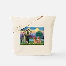 St Francis - 2 Goldens Tote Bag