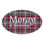 Tartan - Moray of Abercairny Sticker (Oval 10 pk)