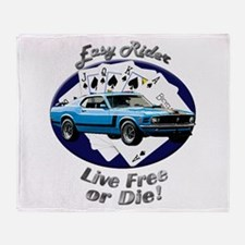 Ford Mustang Boss 302 Throw Blanket