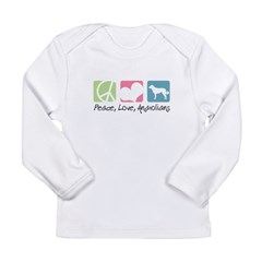 Peace, Love, Anatolians Long Sleeve Infant T-Shirt