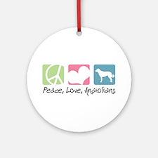 Peace, Love, Anatolians Ornament (Round)