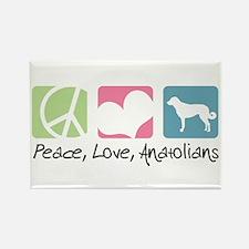Peace, Love, Anatolians Rectangle Magnet (10 pack)