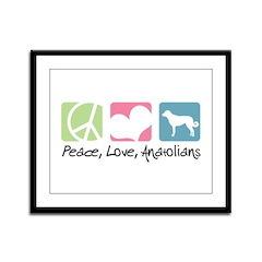 Peace, Love, Anatolians Framed Panel Print