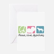 Peace, Love, Anatolians Greeting Card