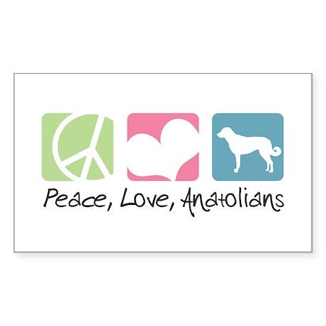 Peace, Love, Anatolians Sticker (Rectangle)