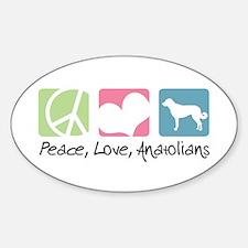 Peace, Love, Anatolians Decal