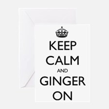 ginger on Greeting Card