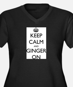 ginger on Women's Plus Size V-Neck Dark T-Shirt