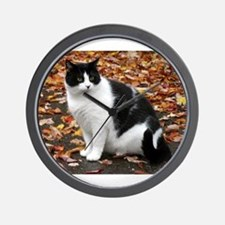 Tuxedo Kitty Wall Clock