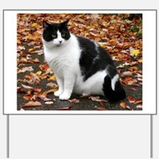 Tuxedo Kitty Yard Sign