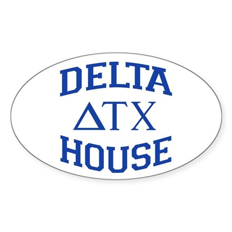 Delta House Animal House Sticker (Oval)