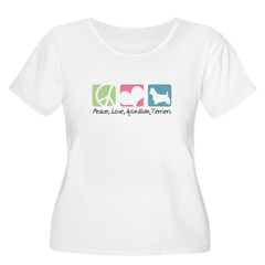 Peace, Love, Australian Terriers T-Shirt