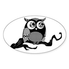 Cute Graphic Owl Decal