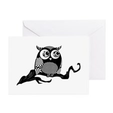 Cute Graphic Owl Greeting Cards (Pk of 10)