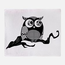 Cute Graphic Owl Throw Blanket