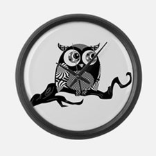 Cute Graphic Owl Large Wall Clock