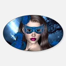 Moonlight Masquerade - Blue Topaz Oval Decal