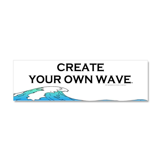 Create Your Own Wave Car Magnet 10 x 3 by limitlesspos