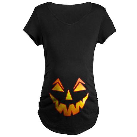 Jack O Lantern Maternity Dark T-Shirt